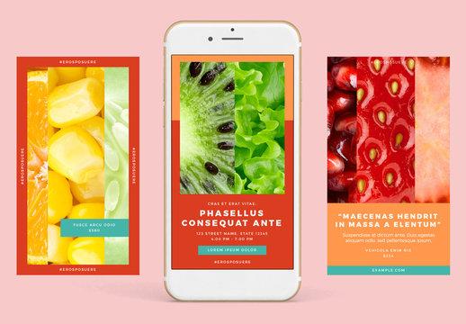 Warm Palette Instagram-Compatible Stories Set