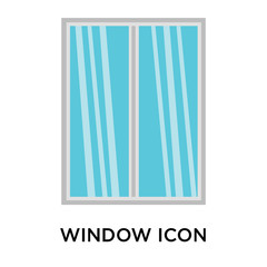 window icons isolated on white background. Modern and editable window icon. Simple icon vector illustration.