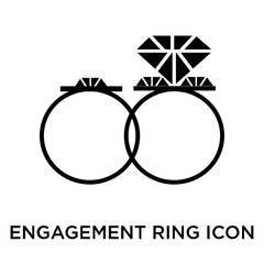 engagement ring icon isolated on white background. Simple and editable engagement ring icons. Modern icon vector illustration.
