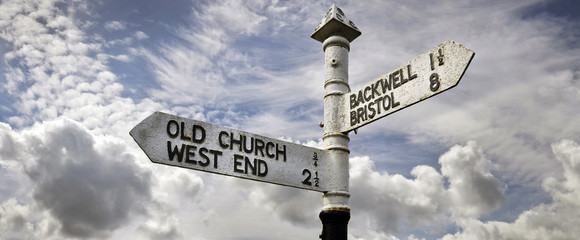 Old Signpost, Southwest England, UK