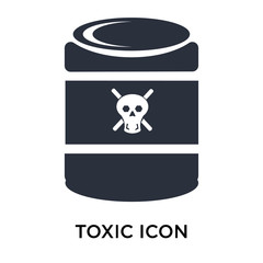 Toxic symbol icon vector sign and symbol isolated on white background, Toxic symbol logo concept