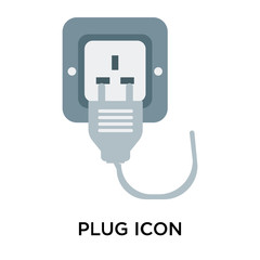plug icons isolated on white background. Modern and editable plug icon. Simple icon vector illustration.