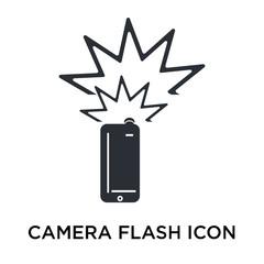 camera flash icon isolated on white background. Simple and editable camera flash icons. Modern icon vector illustration.
