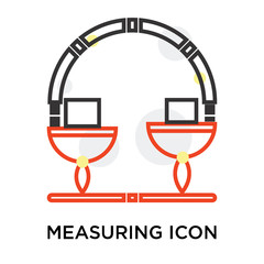 Measuring icon vector sign and symbol isolated on white background, Measuring logo concept