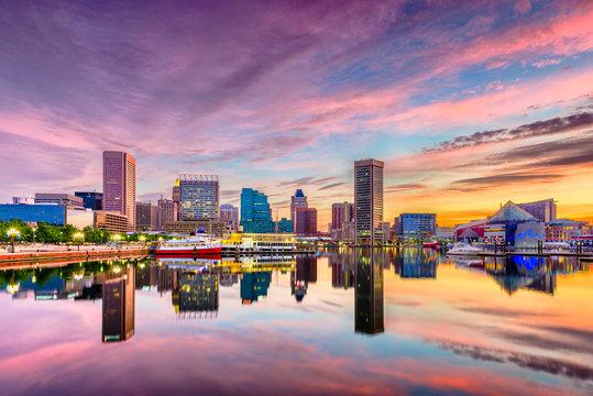 Baltimore, Maryland, USA Skyline