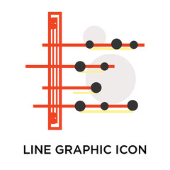Line graphic icon vector sign and symbol isolated on white background, Line graphic logo concept