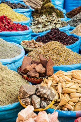 Moroccan spices at souk market
