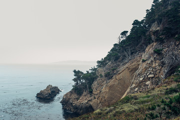 Rocky cliff by the ocean