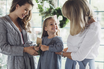 Girl Enjoying Family Time