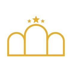 Gate Logo. Door icon. Entrance symbol. Vector eps 08.