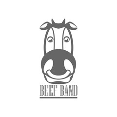 Beef label logo design , vector