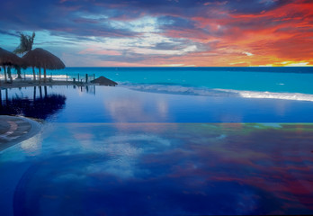 Clouds Reflected in Blue Pool