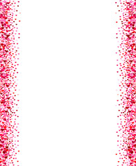 Vertical hearts confetti borders.