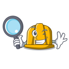 Detective construction helmet character cartoon