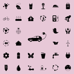 Electra car icon. Detailed set of Ecology icons. Premium quality graphic design sign. One of the collection icons for websites, web design, mobile app