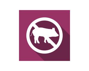 haram not pig icon fauna animal safari image vector icon logo