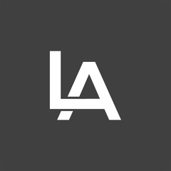 LA initial letter logo vector element. initial letter logo template