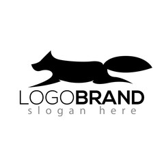 wolf logo silhouette vector element. animal logo template