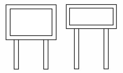 White Board Illustration vector