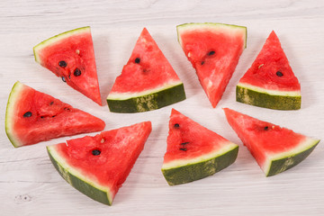 Watermelon containing vitamins and minerals, healthy dessert