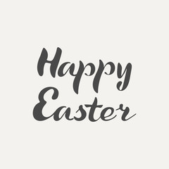 Happy Easter hand lettering. Elegance calligraphic dark inscriptions isolated on white background. Vector illustration.
