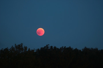 total lunar eclipse in July 2018, blood moon