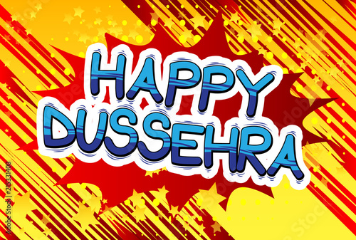 Happy Dussehra  Vector Illustration for the Hindu festival, with