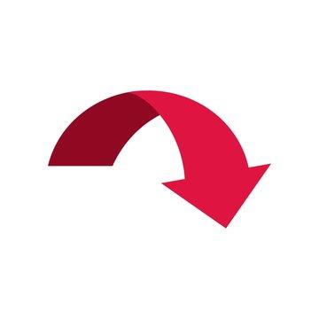 Red Arrow. Vector icon