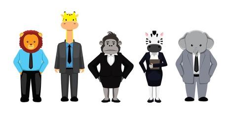 Business Animal Set Vector Illustration