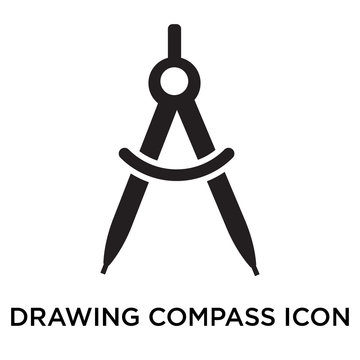 Drawing Compass icon vector sign and symbol isolated on white background, Drawing Compass logo concept