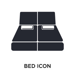 Bed icon vector sign and symbol isolated on white background, Bed logo concept