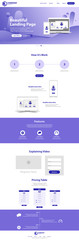 beautiful Landing Page website Template Design concept vector