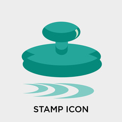 Stamp icon vector sign and symbol isolated on white background, Stamp logo concept