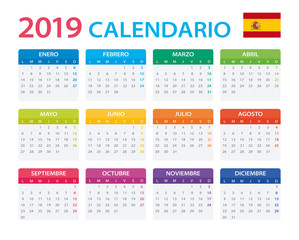 Calendar 2019 - Spanish Version