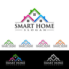 Real estate Logo with Abstract Property and Home shape