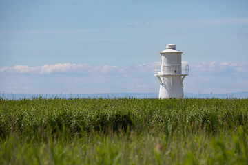East Usk lighthouse at the Newport wetlands, Wales UK