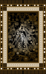 Graphical illustration of a Tarot card 2