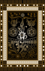 Graphical illustration of a Tarot card 6