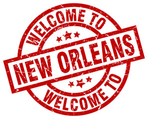 welcome to New Orleans red stamp