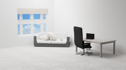 living room 3d-illustration