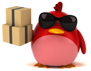Red bird - 3D Illustration