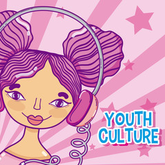 Youth culture cartoon