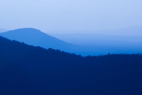 Winter Evening, Petit Jean River Valley, Arkansas