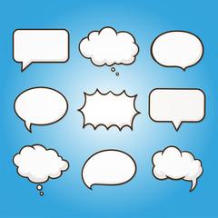 cloud bubble template business shape symbol pattern tag communication