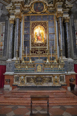 BOLOGNA, ITALY - JULY 20, 2018: Interior of the Basilica of San Domenico. Built in the 13th century