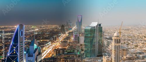 Saudi Arabia Riyadh Landscape Between Day and Night - Riyadh