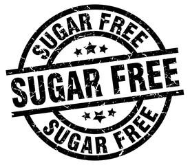 sugar free round grunge black stamp