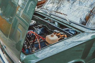 The engine of the old car