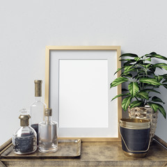 Frame Mockup with Decorations
