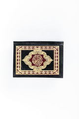 Quran with Rosary - holy book of Muslims - Koran - quran white background